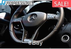 Mercedes AMG Carbon Fibre Steering Wheel Cover Trim W176 W204 W117 W212 W207 W21