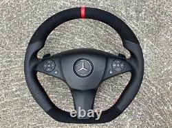 Mercedes Amg C63 W204 W207 Glk Flat Bottom Custom Made Steering Wheel