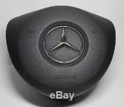 Mercedes Benz Black steering wheel Cover Emblem Included A B C E G Class AMG