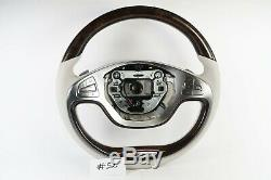 Mercedes Benz S Class W222 S550 Wood/leather Maybach Steering Wheel #52