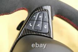 Mercedes steering wheel AMG w205 w222 w253 w217 Alcantara with vibro lane assist