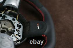 Mini Cooper custom steering wheel R56 R57 R58 07-14 flat bottom Alcantara thick