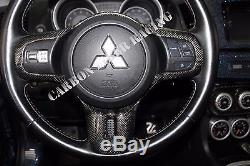 Mitsubishi Lancer Evo X Steering Wheel Cover 100% Plain Weave Carbon Fiber