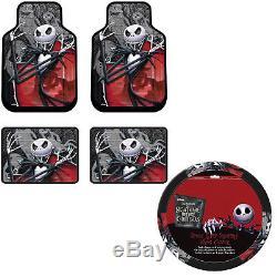 NEW Nightmare Before Christmas Jack Floor Mat Steering Wheel Cover 5pc Gift Set