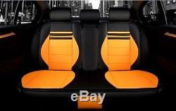 NEW PU Leather Car Seat Cushion 15pcs / set For All Car + steering wheel cover