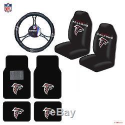 NFL Atlanta Falcons Car Truck Seat Covers Floor Mats Steering Wheel Cover