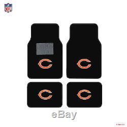 NFL Chicago Bears Car Truck Seat Covers Steering Wheel Cover & Floor Mats Set