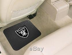 NFL Oakland Raiders Car Truck Seat Covers Floor Mats & Steering Wheel Cover