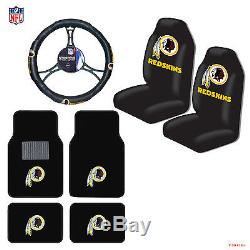 NFL Washington Redskins Car Truck Seat Covers Floor Mats Steering Wheel Cover