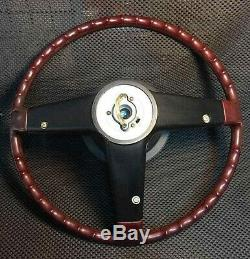 NOS Genuine Datsun Nissan Cedric Bluebird Wood Steering Wheel OEM New Old Stock