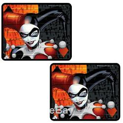 New 10pc Harley Quinn Car Floor Mats Seat Covers Steering Wheel Cover Gift Set