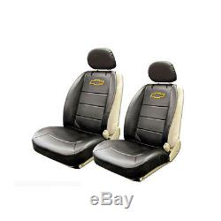 New 11pcs Chevy Elite Logo Car Truck Seat Covers Floor Mats Steering Wheel Cover