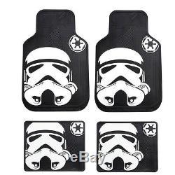 New 7pcs Star Wars Stormtrooper Car Truck Floor Mats Steering Wheel Cover Set