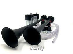 New Air Horn Truck Car SUV Train Sound Compressors 150 DB Loud Black