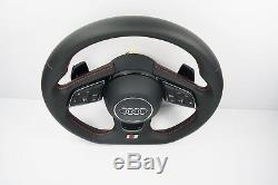 New Audi Flat Bottom Leather Steering Wheel with Shift Paddles A4 S4 A5 S5 1120