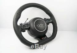 New Audi S Line Flat Bottom Steering Wheel with Shift Paddles A4 S4 A5 S5 Q5 #97