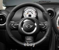 New Genuine Mini JCW Carbon Fiber Trim Cover For Sport Steering Wheel Lower Part