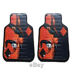 New Harley Quinn Car Truck Front Seat Covers Floor Mats Steering Wheel Cover Set