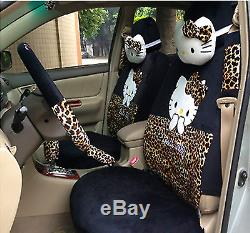 New Hello Kitty Car Seat Covers Steering Wheel Cover Head restraint 18pcs