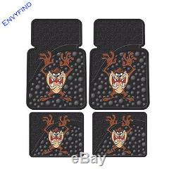 New Looney Tunes Taz Attitude 7Pc Floor Mat Seat Covers Steering Wheel Cover
