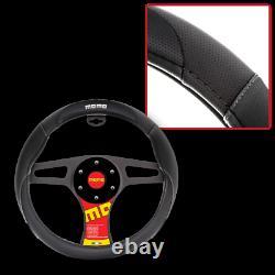 New MOMO Black Car Steering Wheel Cover Size M 14.5 15.5