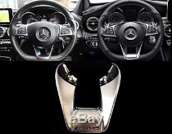 New Mercedes MB C W212 W217 W218 W205 Genuine Amg Steering Wheel Cover Low Trim