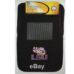 New NCAA LSU Tigers Car Truck Seat Covers Floor Mats & Steering Wheel Cover Set