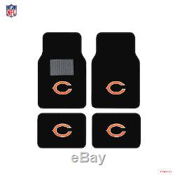 New NFL Chicago Bears Car Truck Floor Mats Seat Covers Steering Wheel Cover