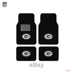 New NFL Green Bay Packers Car Truck Floor Mats Seat Covers Steering Wheel Cover