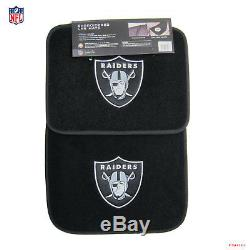 New NFL Oakland Raiders Car Truck Floor Mats Seat Covers Steering Wheel Cover