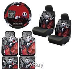 New Set Nightmare Before Christmas Floor Mats Seat Covers Steering Wheel Cover