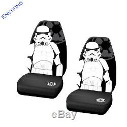 New Star Wars Storm Trooper 7Pc Set Floor Mat Seat Covers Steering Wheel Cover
