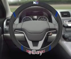 New York Rangers Embroidered Steering Wheel Cover