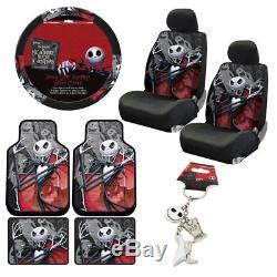 Nightmare Before Christmas Floor Mats Seat Covers Steering Wheel Cover Keychain