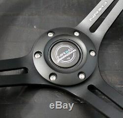 Nrg Short Hub Quick Release Steering Wheel Rs-2.0bk Mazda Miata Rx7 Rx8