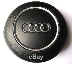 OEM Audi A3 A5 A4 Q5 A6 A8 Q3 12-16 Steering Wheel Cover Black