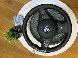OEM BMW 5 6 Series E60 E61 E63 E64 M Sport Steering Wheel 2005-2010 32342283939