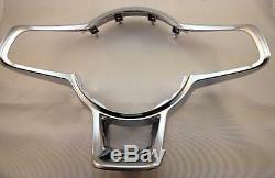 OEM VW Volkswagen Golf MK 7 R Steering Wheel Clip Cover Badge Chrome