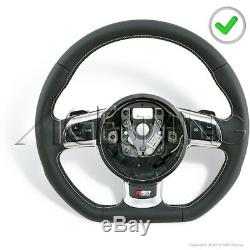 Oem Audi Rs6 Rs4 S3 S5 A8 A3 Tt Ttrs R8 Airbag Co-ver Flat Bottom Steering Wheel