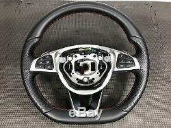Oem Mercedes 15-18 C43 C63 C300 W205 Amg Steering Wheel Leather Paddle Shift