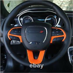 Orange Steering Wheel Cover Trim Bezels Decal For Dodge Charger Challenger 2015+