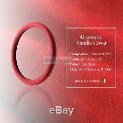 Original Alcantara Racing Grip Red Steering Wheel Cover for All Vehicle