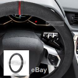Original Alcantara Racing grip Dark Gray Steering Wheel Cover for All Vehicl