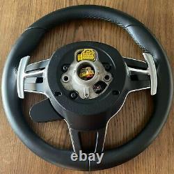 PORSCHE Cayenne Panamera 971 HEATING Steering Wheel OEM BOOST LEATHER SPORT