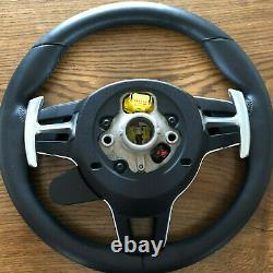 PORSCHE Panamera 971 Cayenne SPORT PDK Steering Wheel OEM HEATING BOOST LEATHER