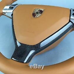 Porsche 987 97 Y-blende Lenkrad Lower Cover Steering Wheel Real Oem Carbon Plain