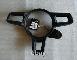 Porsche 991.2 911 Steering Wheel Black Center Blk Gt Inserts And Compass Unit