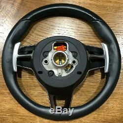 Porsche Macan 911 Carrera Cayenne 17 Steering Wheel BLACK airbag PDK