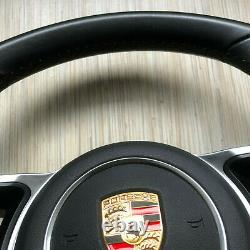 Porsche Macan 911 Carrera Cayenne 17 Steering Wheel BLACK with PDK SRS SET