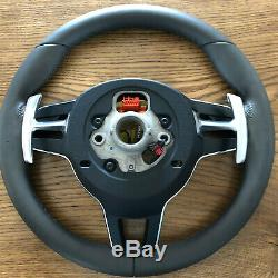 Porsche Macan 911 Carrera Cayenne 17 Steering Wheel HEATING AGATE GREY airbag